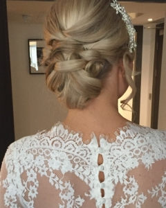 Chloe's wedding hair